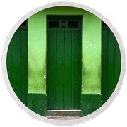 Doors And Windows Lencois Brazil 1 Round Beach Towel