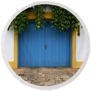 Doors And Windows Minas Gerais State Brazil 11 Round Beach Towel