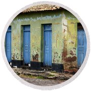 Doors Of Alcantara Brazil 4 Round Beach Towel