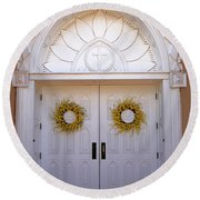 Doors Of San Francisco De Asis Round Beach Towel