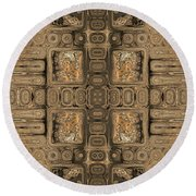 Doors Of Zanzibar Allspice Round Beach Towel
