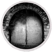 Doors To The Other Side Round Beach Towel