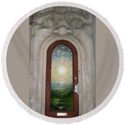 Doorway 17 Round Beach Towel