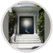 Doorway 19 Round Beach Towel