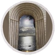 Doorway 22 Round Beach Towel