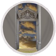 Doorway 29 Round Beach Towel
