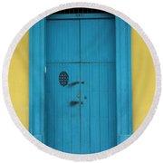 Doorway Of Nicaragua 003 Round Beach Towel