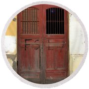 Doorway Of Nicaragua 006 Round Beach Towel