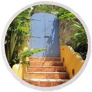 Doorway To Paradise Round Beach Towel