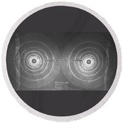 Doppler Effect Parallel Universes Round Beach Towel by Jason Padgett