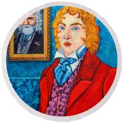 Dorian Gray Round Beach Towel