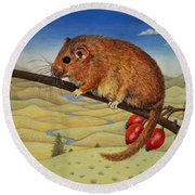 Dormouse Number Two, 1994 Round Beach Towel