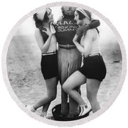 Dorothy Sebastian And Crawford Round Beach Towel