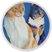 Dos Amores Round Beach Towel by Pat Saunders-White