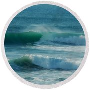 Double Action Round Beach Towel