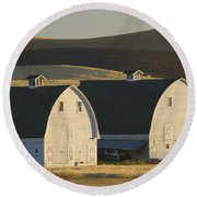 Double Barns Round Beach Towel