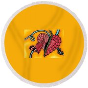 Double Ring Hearts Round Beach Towel
