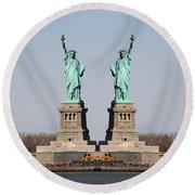 Double Libertys Round Beach Towel