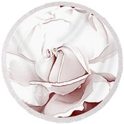 Double Rose Sweet Round Beach Towel