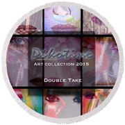 Double Take Art Collection Round Beach Towel