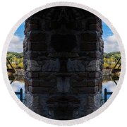 Double Vision Round Beach Towel