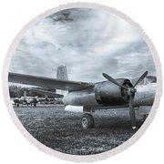 Douglas A-26 Invader 3770b Round Beach Towel