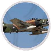 Douglas Ad-4 Skyraider Round Beach Towel