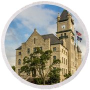 Douglas County Courthouse 2 Round Beach Towel