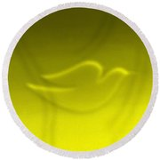 Dove Yellow Round Beach Towel