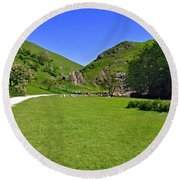 Dovedale - Stepping Stones Area Round Beach Towel