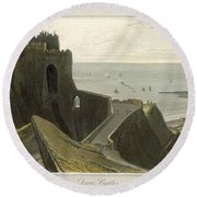 Dover Castle, From A Voyage Around Round Beach Towel