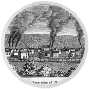 Dover, New Jersey, 1844 Round Beach Towel