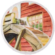 Down By The Old Mill Round Beach Towel by Jeff Kolker