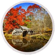Down By The Old Mill Stream  Round Beach Towel by Lynn Bauer