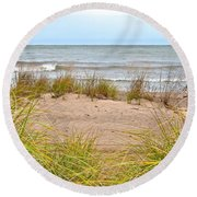 Down By The Sea Round Beach Towel