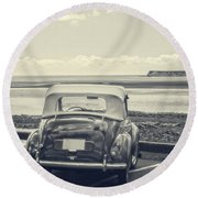 Down By The Shore Round Beach Towel