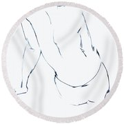 Down For It  Round Beach Towel
