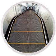 Down Perspective Round Beach Towel
