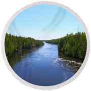 Down River Round Beach Towel