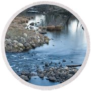 Down Stream Round Beach Towel