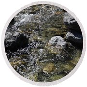 Down The River Round Beach Towel