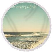 Down The Shore Seaside Heights Vintage Quote Round Beach Towel