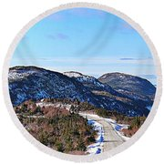 Down To The Sea - Oceanview - Hillview Round Beach Towel