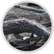 Down Tree Arch Round Beach Towel