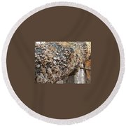 Down Tree Round Beach Towel