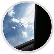 Downtown Abstract Round Beach Towel