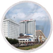 Downtown Atlantic City New Jersey Round Beach Towel