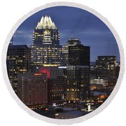 Downtown Austin 3 Round Beach Towel