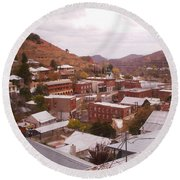 Downtown Bisbee Round Beach Towel