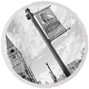 Downtown Cheyenne Round Beach Towel